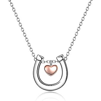YFN Horse Jewellery Gifts for Women Sterling Silver Horseshoe Necklace for Girls