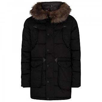 Superdry Chinook Parka Puffer Jacket Black 02A