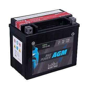 intAct YTX12-BS Maintenance Free AGM Bike-Power Battery