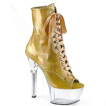 Pleaser Women's Boots ASPIRE-1021BHG Or Brossé Hologramme/Clr