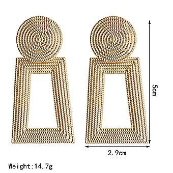 Gold Boho Geometric Drop Earrings