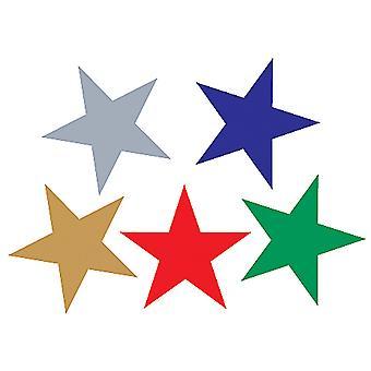 Pegatinas de lámina de estrellas variadas
