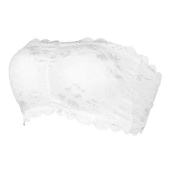 Női tömör wrap mellkas szexi fehérnemű csipke vállnélküli melltartó teljes csésze párnázott réteg