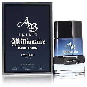 Spirit Millionaire Dark Fusion By Lomani Eau De Parfum Spray 3.3 Oz (men) V728-553663