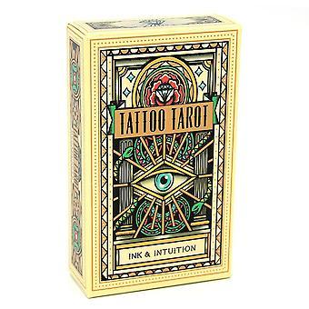 Tattoo Tarot Cards, Full English Board Game Card