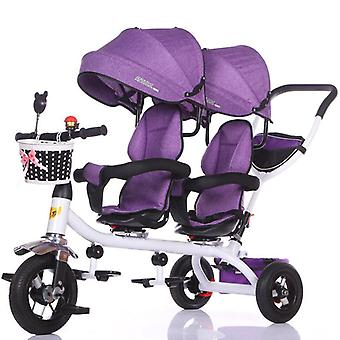 Children's Tricycle, Twin Babies Bicycle, Twin Stroller, Light Carriage