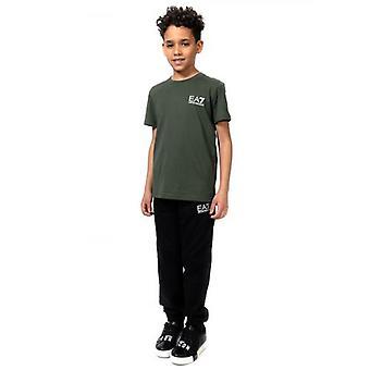 EA7 Kids Black Tracksuit Pant