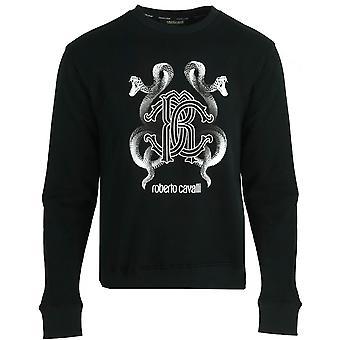 Roberto Cavalli RC Snake Logo Musta Jumper
