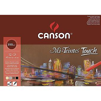 200005425 Canson - Mi-Teintes Touch Pad - A3-12 sheets