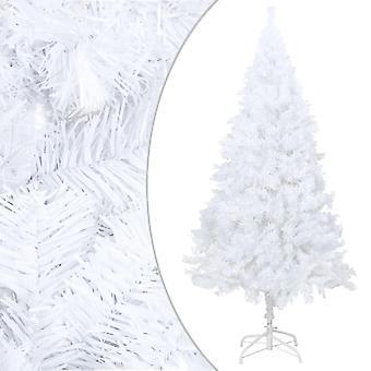 vidaXL شجرة عيد الميلاد الاصطناعية مع فروع سميكة أبيض 150 سم PVC
