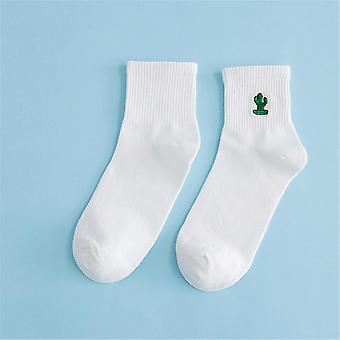 Baumwolle Kurze Mode Stickerei Socken