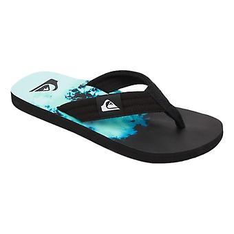 Quiksilver Molokai Layback Sandals - Black / Green / Blue