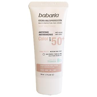 Babaria Crema Solar spf 50 + Anti-Edad Color 50 ml