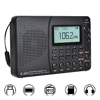 Fm Full Band Radio Bluetooth (black)