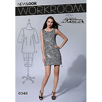 New Look Sewing Pattern 6049 Misses Dresses Size 8-18 A Euro 34-44
