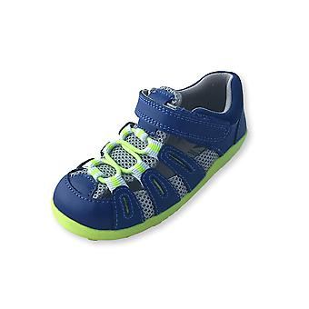 Bobux i walk blue and neon summit outdoor sandals