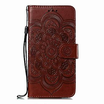 Flower Pattern Leather Case for Nokia 3.1/Nokia 3 2018 - Brown