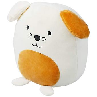 cushion Woof! 29 x 25 cm polyester white/orange