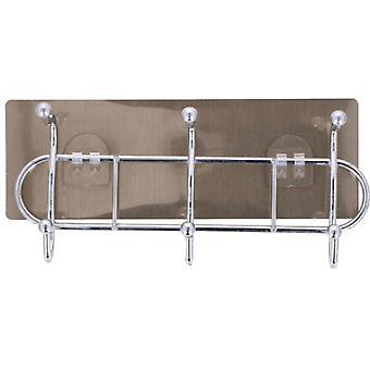 handtuchhalter 6-Haken 22 x 9 cm Stahl silber