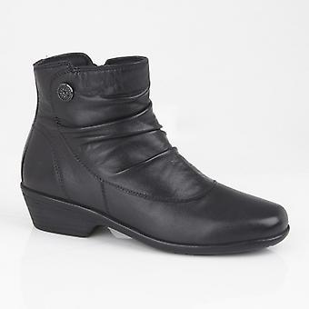 Mod Comfys Deborahs Ladies Leather Zip Boots Black
