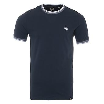 Pretty Green Solo Pique Tipped T-Shirt - Navy
