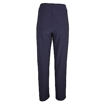 Frank Lyman Navy Blue Straight Leg Pull On Trousers With Elasticated Waist