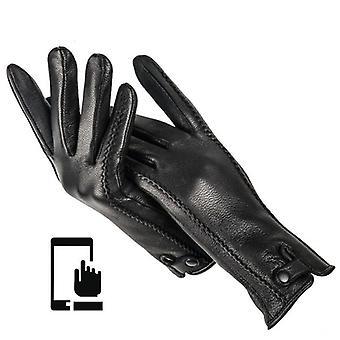 Fashion Buckskin Real Kvinders Læder Handske