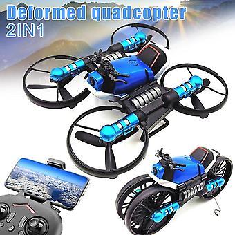 2.4G Deformación motocicleta plegable Quadcopter Drone Doble Modo 2 en 1 Toy BM88 Motocicletas