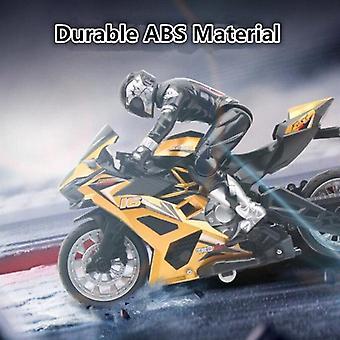 Control remoto Stunt Moto 360 grados Rotación deriva Car Racing Motorcycle Toy modelo (Amarillo)