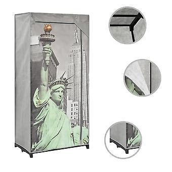 vidaXL Garderobe 75×45×160 cm New York Stof