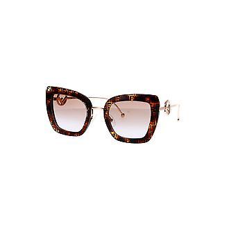 Fendi FF0408/S 086/QR Dark Havana/Brown Violet Gradient Sunglasses