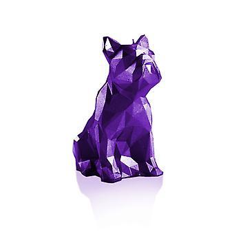 Violett metalliskt låg poly bulldoggljus