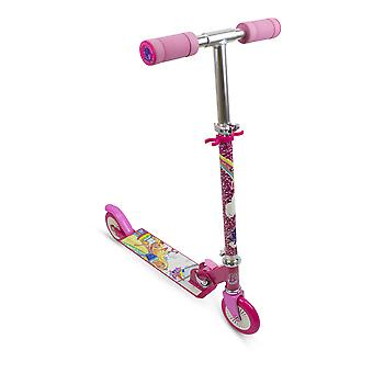 Barbie - Dreamtopia Kid's Two Wheel Inline Foldable Scooter with Adjustable Handlebar (Multi-colour)