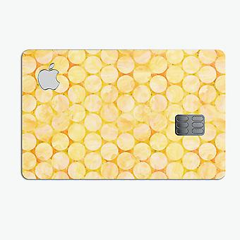 Yellow Sorted Large Watercolor Polka Dots - Premium Protective Decal