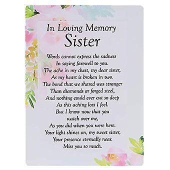 Graveside Memorial Cards - In Memory Of Sister
