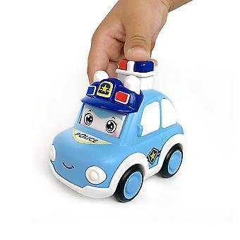 Drücken Trägheit Vorwärts Gesicht ändern Cartoon Polizei AutoBagger Kinder's Spielzeug