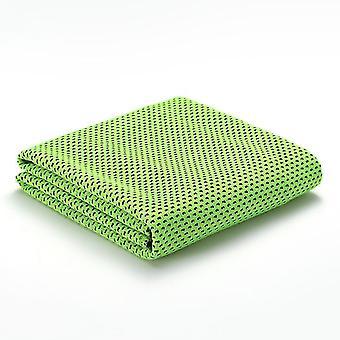 """Koelhanddoek 40""""x12"""", IJshanddoek, Microvezel handdoek voor Yoga, Fitnessruimte (Groen)"""