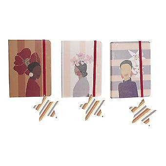 ノートブックDKDホームデコーレディ(3個) (14.5 x 2 x 10.5 cm)