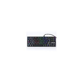 1506 87 Keys Wired RGB Backlit Blue Switch Mechanical Gaming Keyboard for E-sport PC Laptop