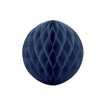 30cm marineblå silkepapir honeycomb ball bryllup fest dekorasjon