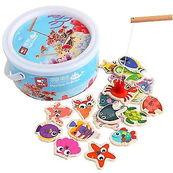 Children's educational magnetic cartoon fishing toy for 1-2-3 years old