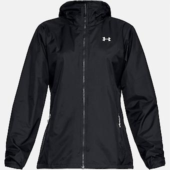Under Armour Womens Forefront Rain Jacket Full Zip Breathable Top Outerwear