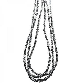 Shipton and Co Ladies Shipton And Co Exclusive Silver And 3 Strands Of Faceted Black Diamond 70cts Beads BSS067DI