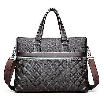 Männer Messenger Bag geprägt Rhombic Leder Handtasche Schultertasche