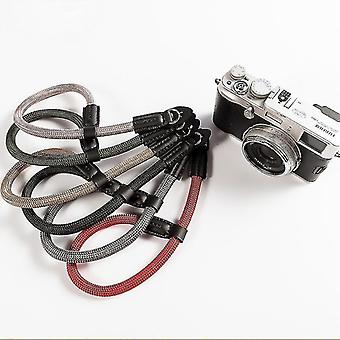 Csukló kézzel készített nylon digitális fényképezőgép csukló kézszíj markolat fonott karszalag a Canon Sony Leica