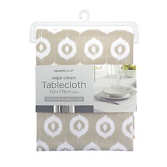 Country Club PVC Tablecloth, Ikat Natural
