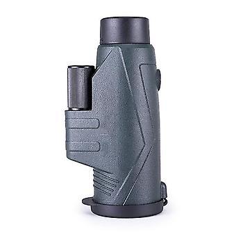 Monoculaire 10x42, gebruikt voor wandelen, sightseeing, concert bal spelletjes, kamperen, jagen, (groen)