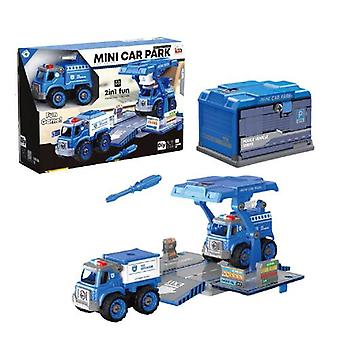 Children's disassembly and assembly of container truck toys