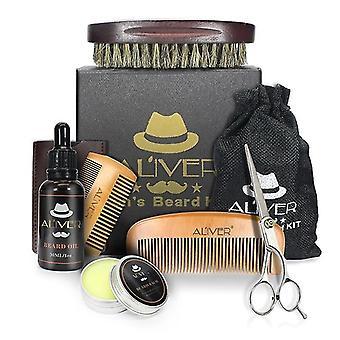 Men Beard Kit Barba Grooming Set Oil Moisturizing Wax Blam Comb Essence