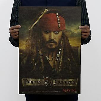 Pirates Of The Caribbean Vintage Kraft Paper Movie Poster Home Wall Decoratie